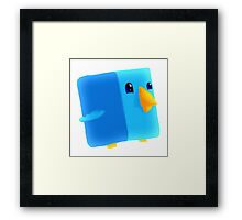 Cube Tweet Framed Print
