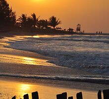 sunset in gambia  by innitman
