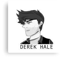 DEREK HALE in MONOCHROME Canvas Print
