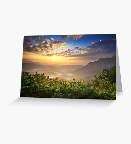 Highlands Sunrise - Whitesides Mountain Landscape Greeting Card
