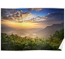 Highlands Sunrise - Whitesides Mountain Landscape Poster