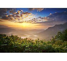 Highlands Sunrise - Whitesides Mountain Landscape Photographic Print