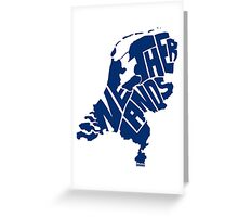 Netherlands Blue Greeting Card