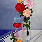 Still life with roses by Madalena Lobao-Tello