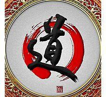 Japanese calligraphy - Michi - Do (Way) Photographic Print