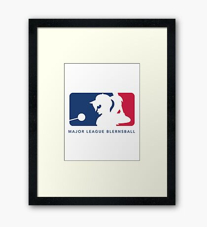 Major League Blernsball (White) Framed Print