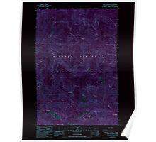 USGS Topo Map Washington State WA Bare Mountain 239936 1986 24000 Inverted Poster