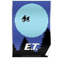 8-Bit E.T. Poster