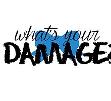 What's Your Damage? (Blue Bow) by Valerie Genzano