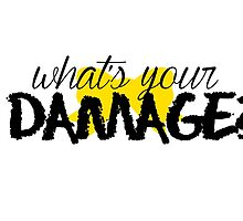 What's Your Damage? (Yellow Bow) by Valerie Genzano