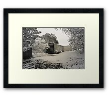 Boxcar Snow Framed Print