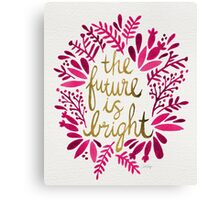 The Future is Bright – Pink & Gold Canvas Print