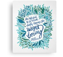 Zelda Fitzgerald – Blue on White Canvas Print