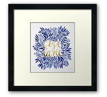 That's Life – Gold & Blue Framed Print