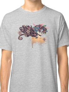 Sugar Skull Girl in Flower Crown 3 Classic T-Shirt