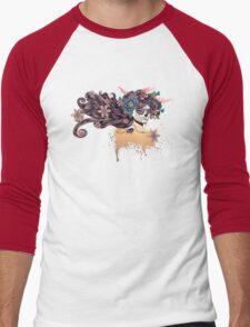 Sugar Skull Girl in Flower Crown 3 Men's Baseball ¾ T-Shirt