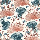 Aquatic Pattern by Paula Belle Flores