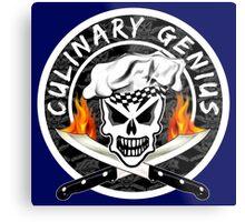 Skull Chef 2: Culinary Genius 2 Metal Print