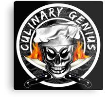 Skull Chef 4: Culinary Genius 2 Metal Print