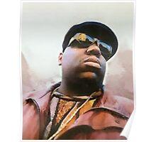 Biggie Smalls Notorious Rapp Autumn Dream Wrap Poster