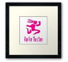 Run For The Cure Framed Print
