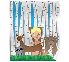 Mother Nature and Animal Friends Poster