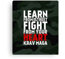 Learn From The Street Krav Maga - Camouflage Canvas Print