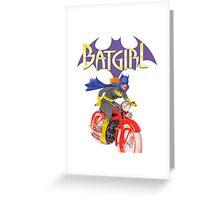 Batgirl on Batbike Greeting Card