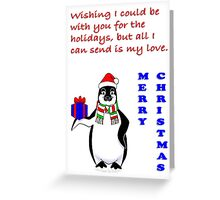 Penguin Holiday Card Greeting Card