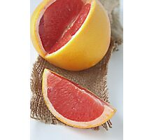 Ruby grapefruit Photographic Print