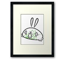 Argh! It got in my mouth! Framed Print