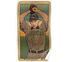 Benjamin K Edwards Collection Miller Seattle Team baseball card portrait Poster