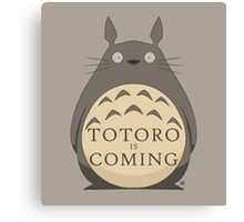 Totoro Is Coming Canvas Print