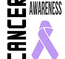 Cancer Awareness Ribbon (all cancers) by raineOn