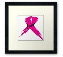 Love Pink Ribbon Framed Print