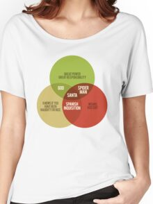 Santa Venn Diagram Women's Relaxed Fit T-Shirt