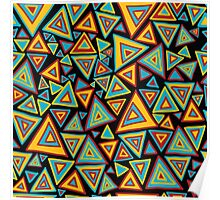 Colorful triangles' world Poster