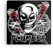 "Plumber Skull 4: ""The Plumber"" Metal Print"