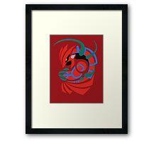 Scorching Earth - Wishmaker Groudon  Framed Print