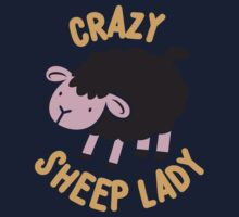 Crazy Sheep Lady (with black sheep) One Piece - Short Sleeve