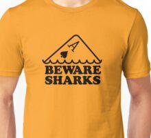 Beware Sharks Unisex T-Shirt