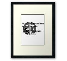 Pvt. Vasquez quote Framed Print
