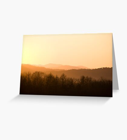 Mountains on fire Greeting Card