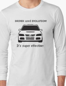 Mitsubishi Evo used Evolution It was Super Effective! Pokemon Gag Sticker / Tee - Black Long Sleeve T-Shirt