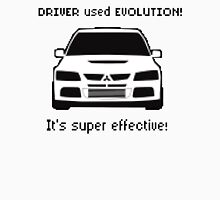 Mitsubishi Evo used Evolution It was Super Effective! Pokemon Gag Sticker / Tee - Black T-Shirt