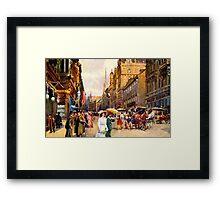 Great vintage belle epoque scene Vienna Austria Framed Print