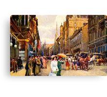 Great vintage belle epoque scene Vienna Austria Canvas Print