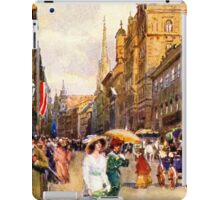 Great vintage belle epoque scene Vienna Austria iPad Case/Skin
