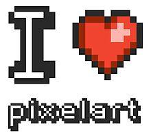 I Love Pixelart Photographic Print