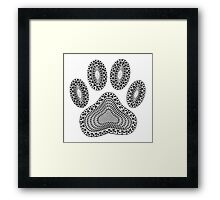 Abstract Ink Dog Paw Print Framed Print